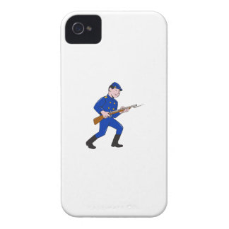 Union Army Soldier Bayonet Rifle Cartoon Case-Mate iPhone 4 Case