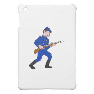 Union Army Soldier Bayonet Rifle Cartoon iPad Mini Cover