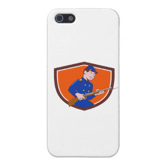 Union Army Soldier Bayonet Rifle Crest Cartoon Cover For iPhone SE/5/5s