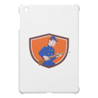 Union Army Soldier Bayonet Rifle Crest Cartoon iPad Mini Cover