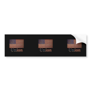 Union Army USA Civil War Flag Bumper Sticker