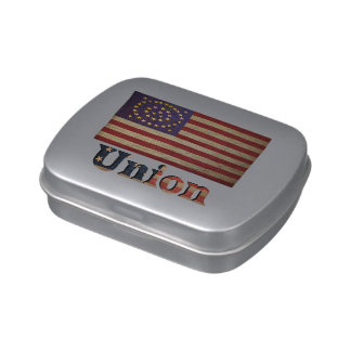 Union Army USA Civil War Flag Jelly Belly Candy Tin