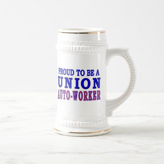 UNION AUTO- WORKER BEER STEIN