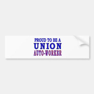 UNION AUTO- WORKER BUMPER STICKER