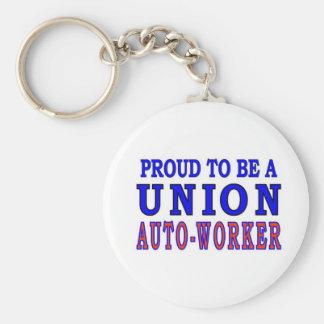 UNION AUTO- WORKER KEY CHAIN