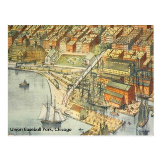 Union Baseball Park, Chicago, 1st Home Of The Cubs Postcard