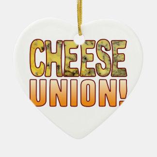 Union Blue Cheese Ceramic Ornament