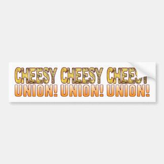 Union Blue Cheesy Bumper Sticker