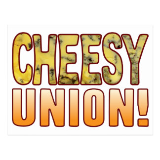 Union Blue Cheesy Postcard