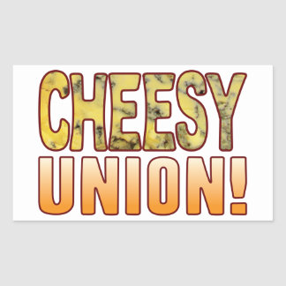 Union Blue Cheesy Rectangular Sticker