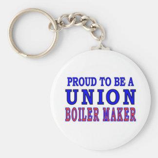 UNION BOILER MAKER BASIC ROUND BUTTON KEYCHAIN