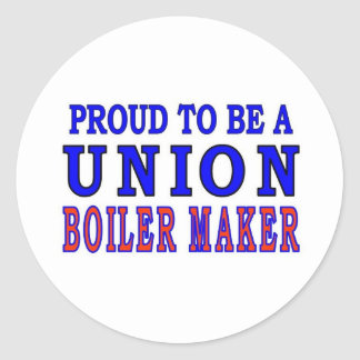 UNION BOILER MAKER CLASSIC ROUND STICKER