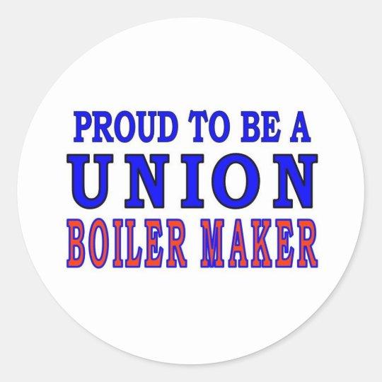 UNION BOILER MAKER CLASSIC ROUND STICKER