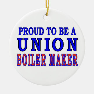 UNION BOILER MAKER Double-Sided CERAMIC ROUND CHRISTMAS ORNAMENT