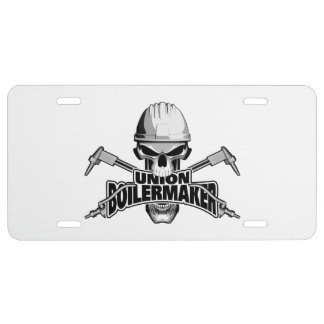 Union Boilermaker: Welding Skull License Plate