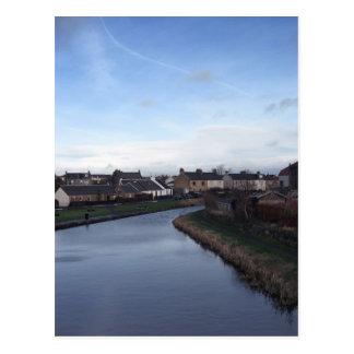 Union Canal from the bridge in Broxburn Postcard