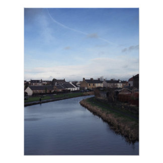 Union Canal from the bridge in Broxburn Poster