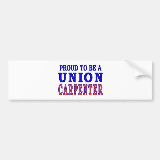 UNION CARPENTER BUMPER STICKER