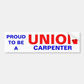 UNION CARPENTER BUMPER STICKER