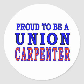 UNION CARPENTER CLASSIC ROUND STICKER