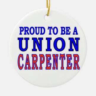 UNION CARPENTER Double-Sided CERAMIC ROUND CHRISTMAS ORNAMENT