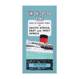 Union Castle Line Brochure ~ XL Canvas Print