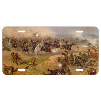 Union Cavalry Charge License Plate