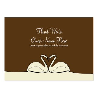 Union Choc/Cream - Place Cards Business Cards