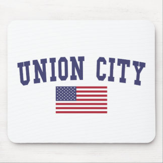 Union City CA US Flag Mouse Pad