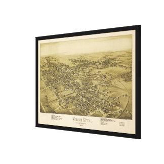 Union City Erie County Pennsylvania Map (1895) Canvas Print