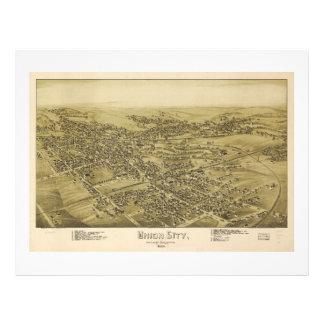 Union City Erie County Pennsylvania Map (1895) Letterhead