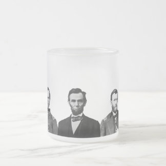 Union Civil War Heroes Frosted Glass Coffee Mug