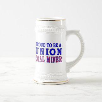 UNION COAL MINER BEER STEIN