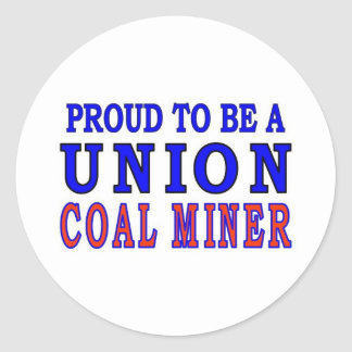UNION COAL MINER CLASSIC ROUND STICKER