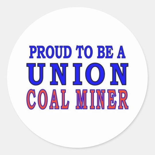 UNION COAL MINER CLASSIC ROUND STICKER