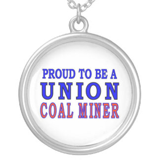 UNION COAL MINER SILVER PLATED NECKLACE