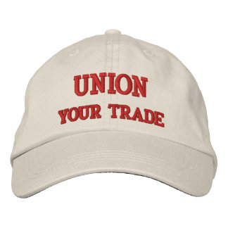 UNION (CUSTOMIZE W/YOUR TRADE) EMBROIDERED BASEBALL HAT