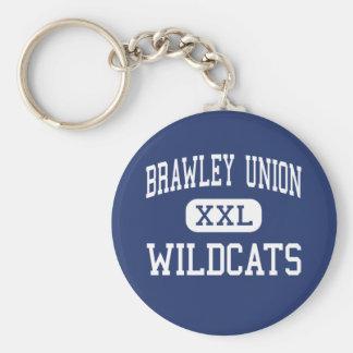 Unión de Brawley - gatos monteses - alta - Brawley Llavero Redondo Tipo Pin