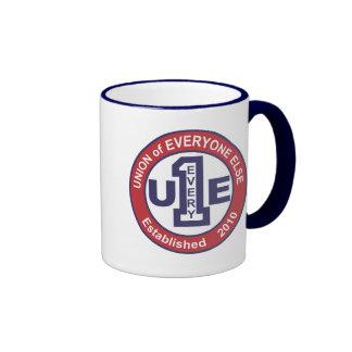 Unión de cada uno/de la taza de café