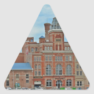 Unión de estudiantes Denver de Tivoli Pegatina Triangular