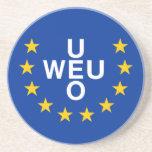 Unión de Europa occidental, bandera de Panamá Posavasos Para Bebidas
