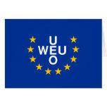 Unión de Europa occidental, bandera de Panamá Tarjetas