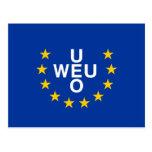 Unión de Europa occidental, bandera de Panamá Tarjetas Postales