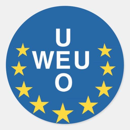 Unión de Europa occidental Pegatina Redonda