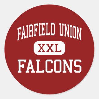 Unión de Fairfield - Falcons - joven - Lancaster Pegatina Redonda