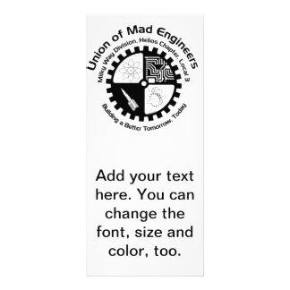 Unión de ingenieros enojados diseños de tarjetas publicitarias