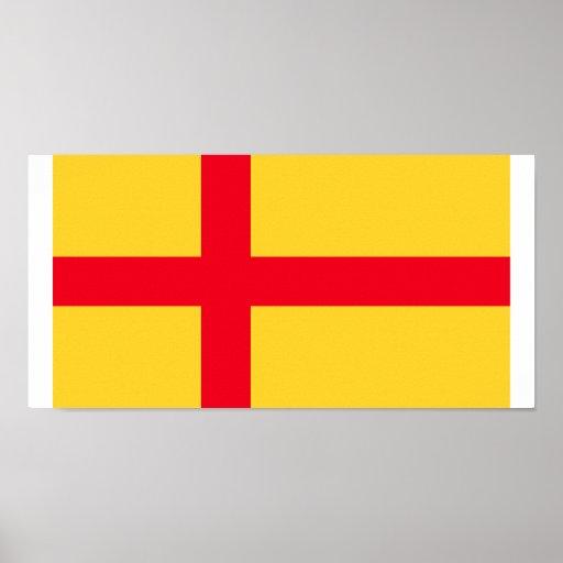 Unión de Kalmar, bandera de Groenlandia Póster