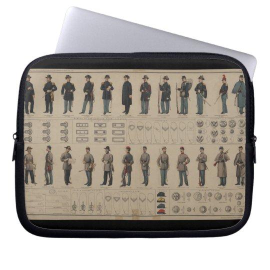 Unión de la guerra civil y uniformes de los soldad fundas computadoras
