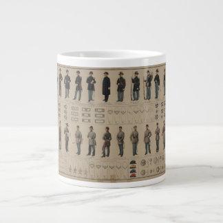 Unión de la guerra civil y uniformes de los soldad taza grande