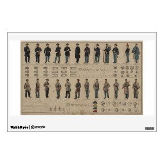 Unión de la guerra civil y uniformes de los soldad vinilo